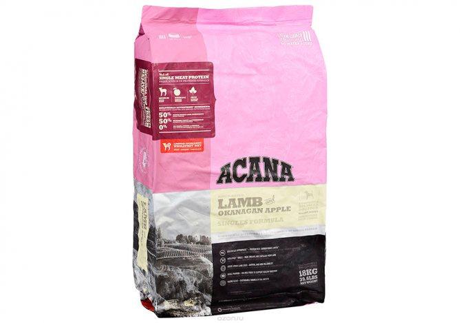 2. Акана (Acana) для собак гипоаллергенная