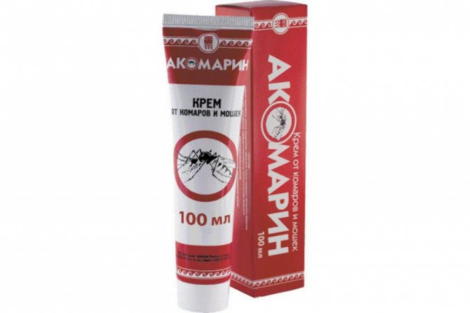 Акомарин натуральный крем от комаров и мошек