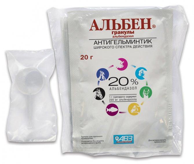 Альбен является препаратом широкого спектра действия,