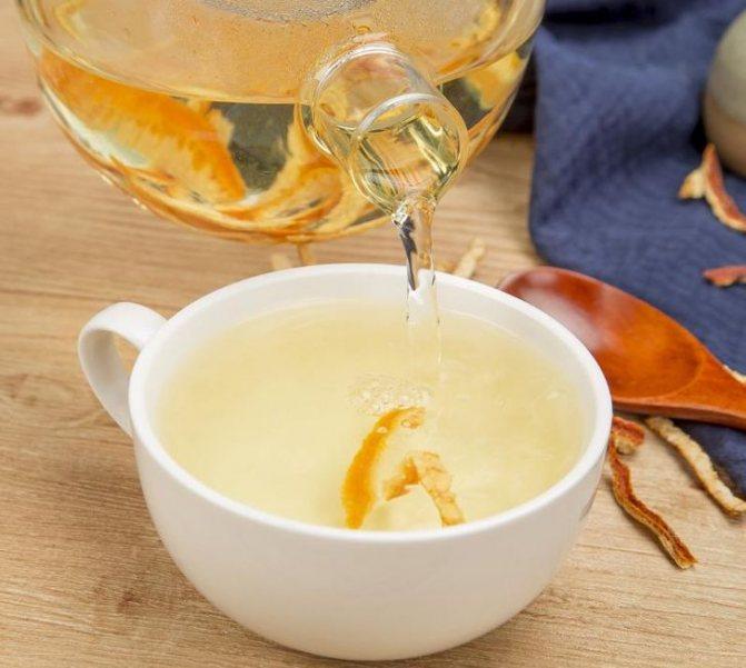 Чай на манариновой кожуре