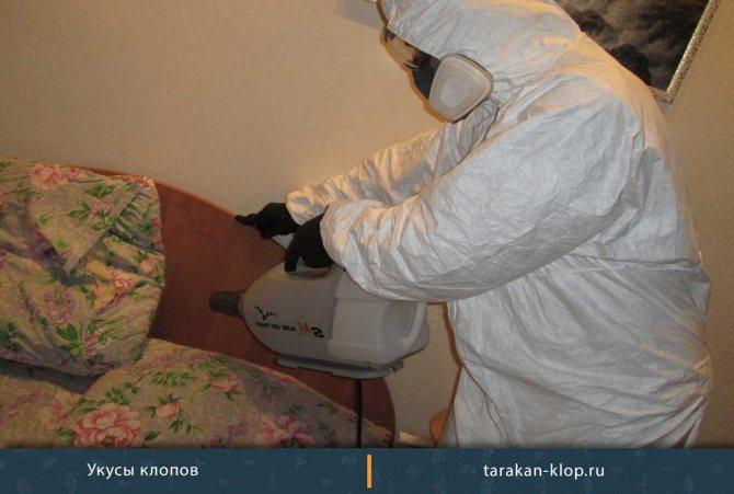 Дезинфекция кровати