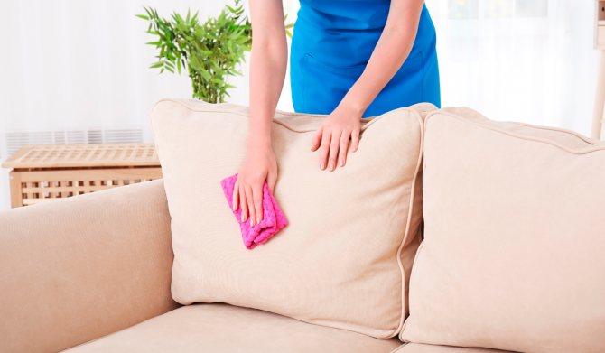 Дополнительные способы чистки дивана от мочи