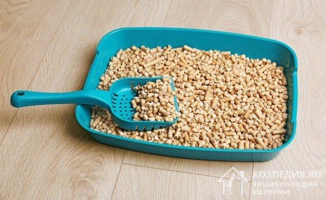 Древесные гранулы – самый популярный и востребованный наполнитель для кошачьего туалета