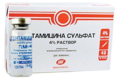 Гентамицин инструкция по применению для животных, гентомицин для кошек