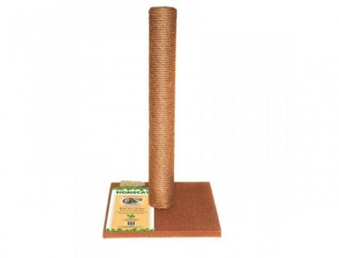 Homecat Когтеточка-столбик, коричневая, джут и ковролин, 29.5х29.5х50 см (1,57 кг)