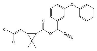 Инсектицид циперметрин в составе препарата используется в качестве вспомогательного действующего вещества.