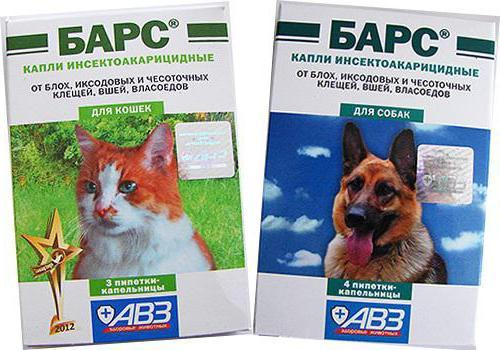 капли барс для собак