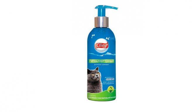 клини гипоаллергенный шампунь для кошки