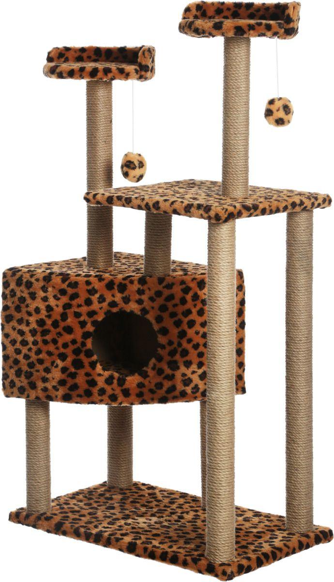 Когтеточка для кошек Меридиан домик-когтеточка угловой