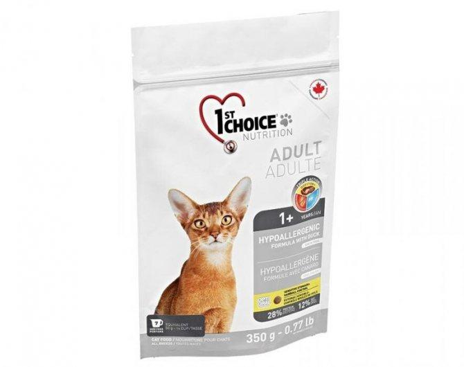 Корм для кошек гипоаллергенный название