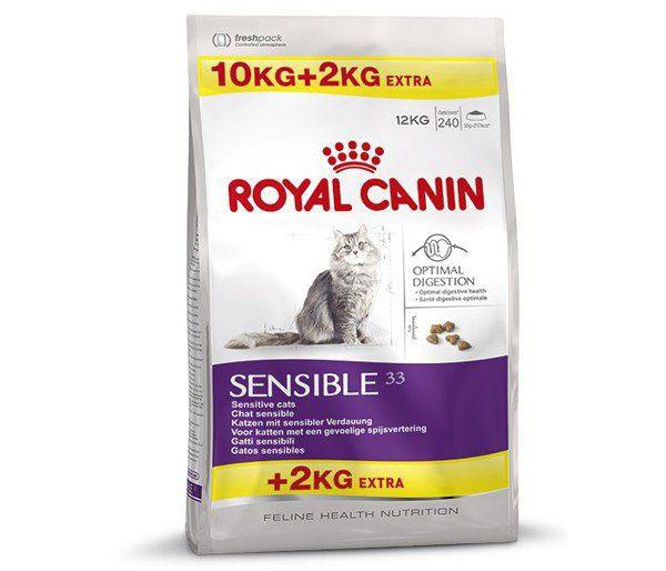 корм хиллс для кошек для чувствительного пищеварения