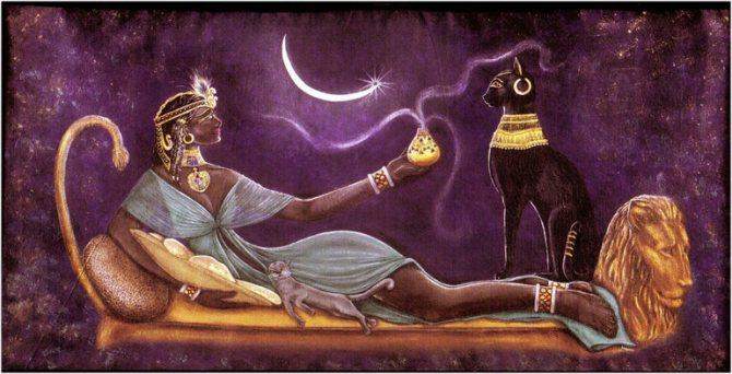 Кошки являются потомками богини Бастет,