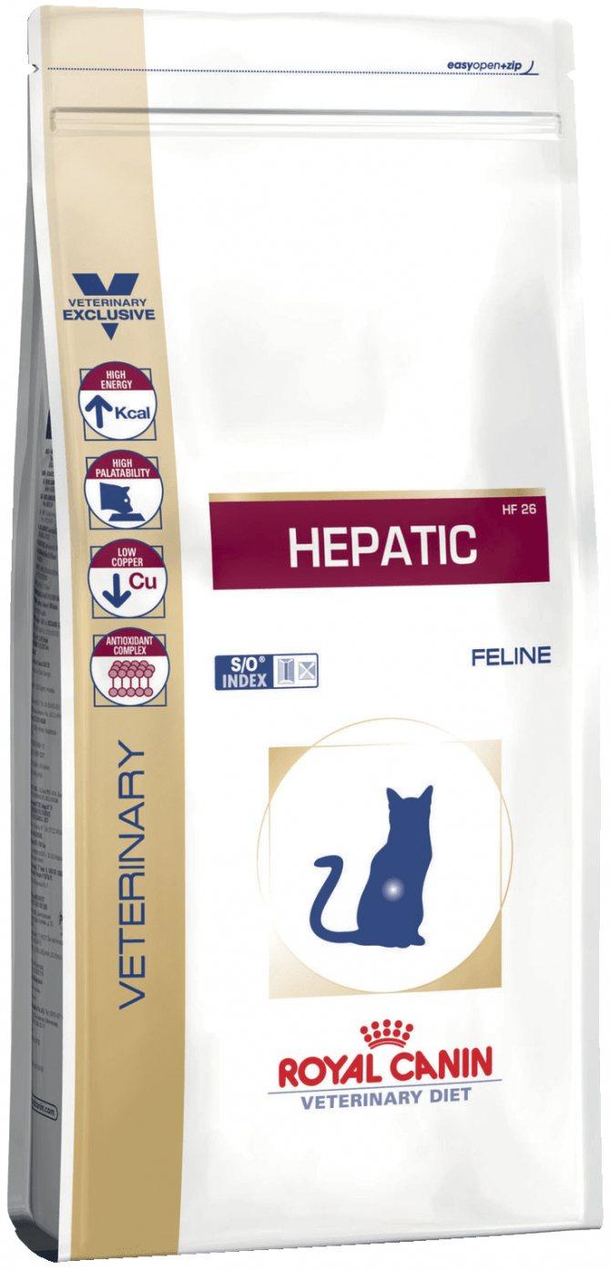 Лечебное питание для кошек с больной печенью