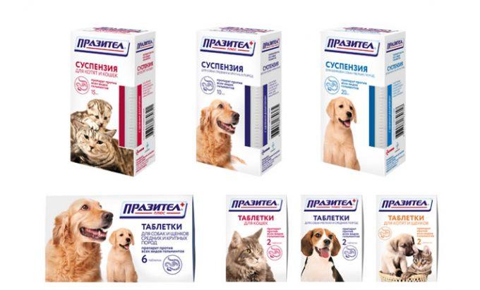 линейка препаратов для собак - празител
