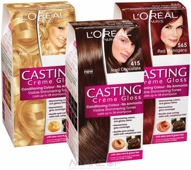 На фото: краска для волос
