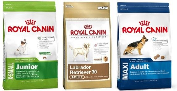 На каждой пачке сухого корма указано, для собак какого возраста и размера он предназначен