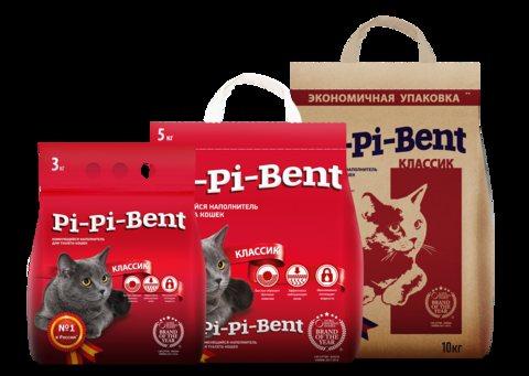 Наполнитель кошачьего туалета Pi-pi-bent