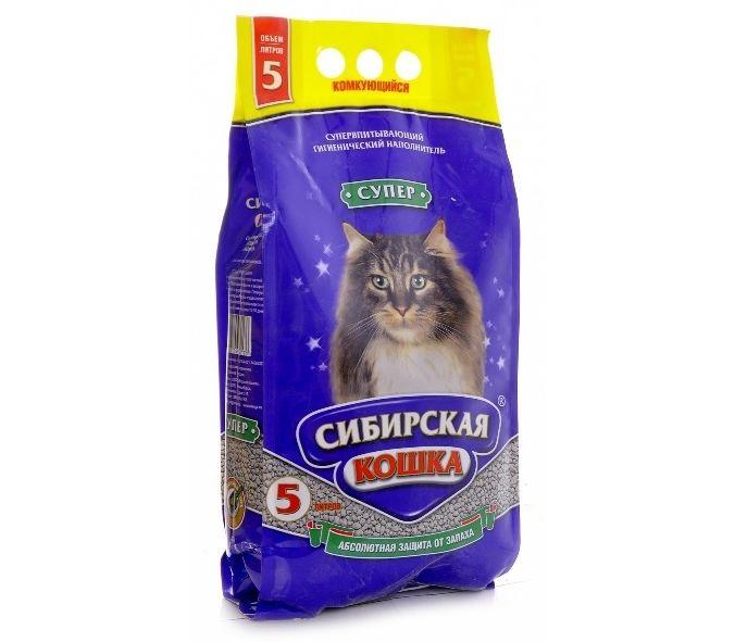 Наполнитель кошачьего туалета Сибирская кошка
