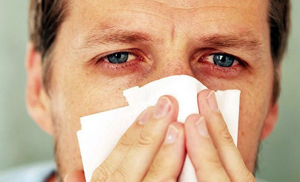 Насморк, заложенность носа и слезотечение - типичные симптомы, проявляющиеся при воздействии аллергена на слизистые оболочки верхних дыхательных путей и глаз.