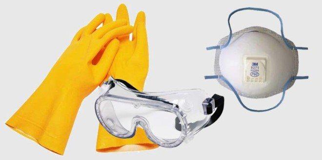 Перчатки и очки