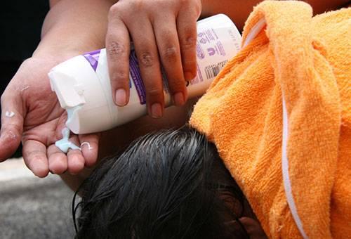 Применение шампуня от вшей