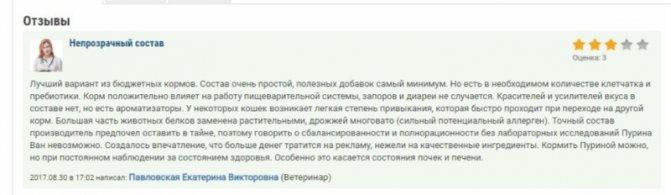 Пурина Ван отзывы ветеринаров
