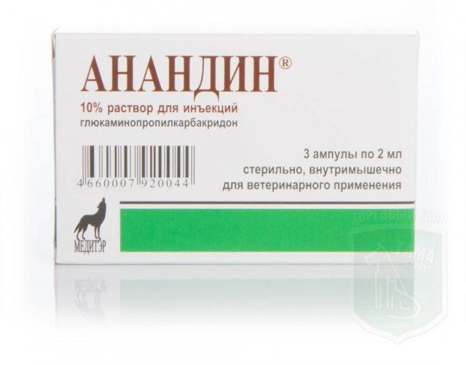 Раствор для иньекции укол анандин