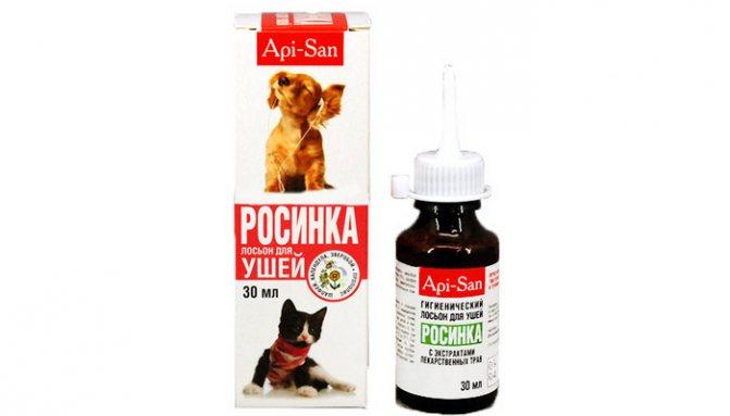 росинка средство для чистки ушей у кошек