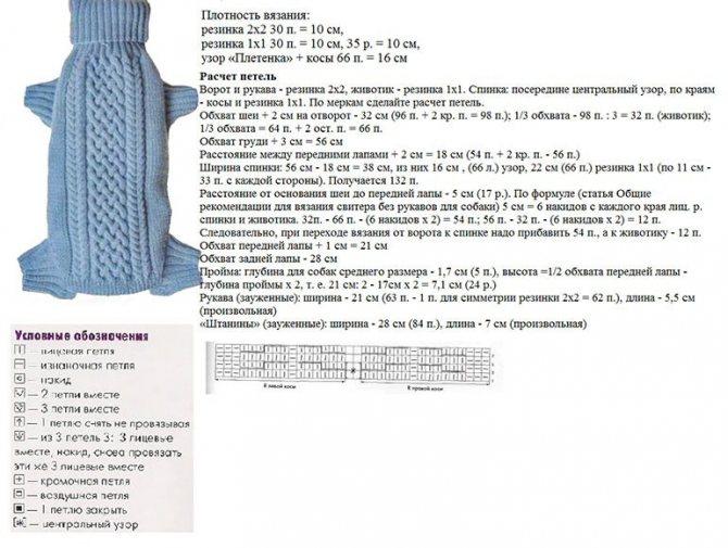 Схема для вязания часть 1