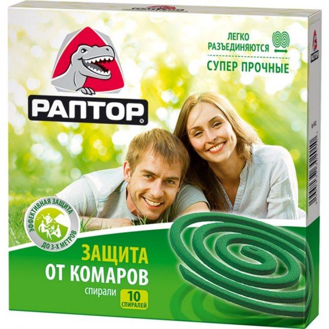 Спираль Раптор от комаров без запаха