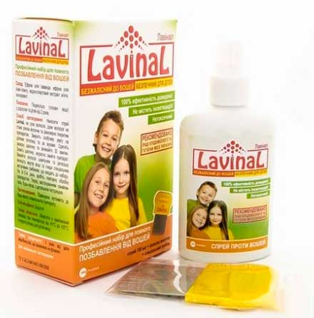 Спрей против вшей Lavinal