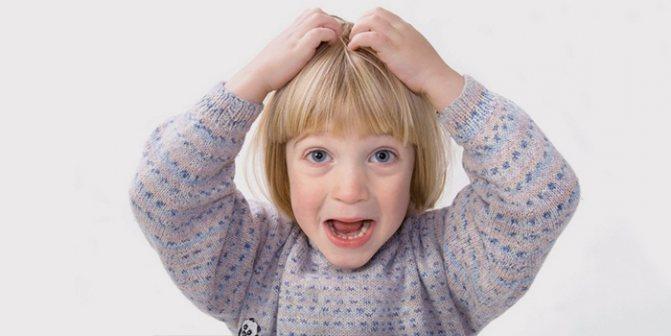 У ребенка чешется голова