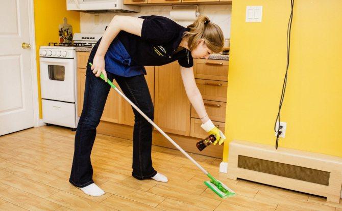 уборка в частном доме