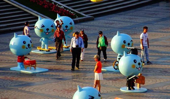 Уличная инсталляция в Шанхае