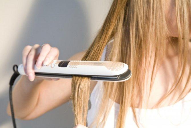 Утюжок и волосы