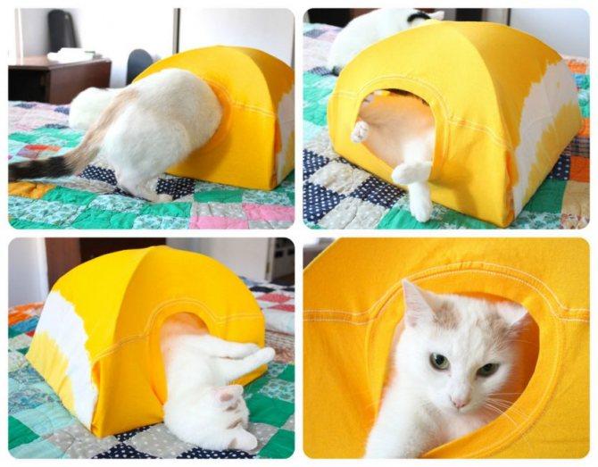 Уютная палатка из футболки