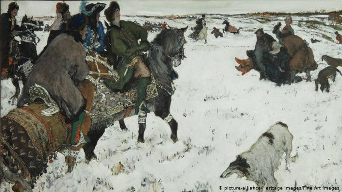 Валентин Серов. Петр I на псовой охоте (1902)