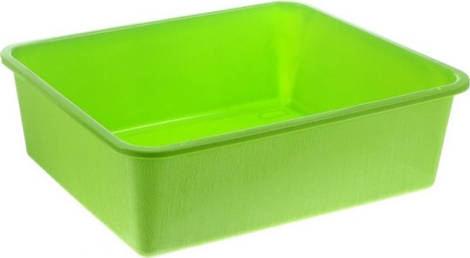 Зеленый лоток без решетки
